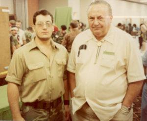 A Young Carl Cestari with Rex Applegate