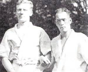 A young Fairbairn with Professor Okada, his first instructor.