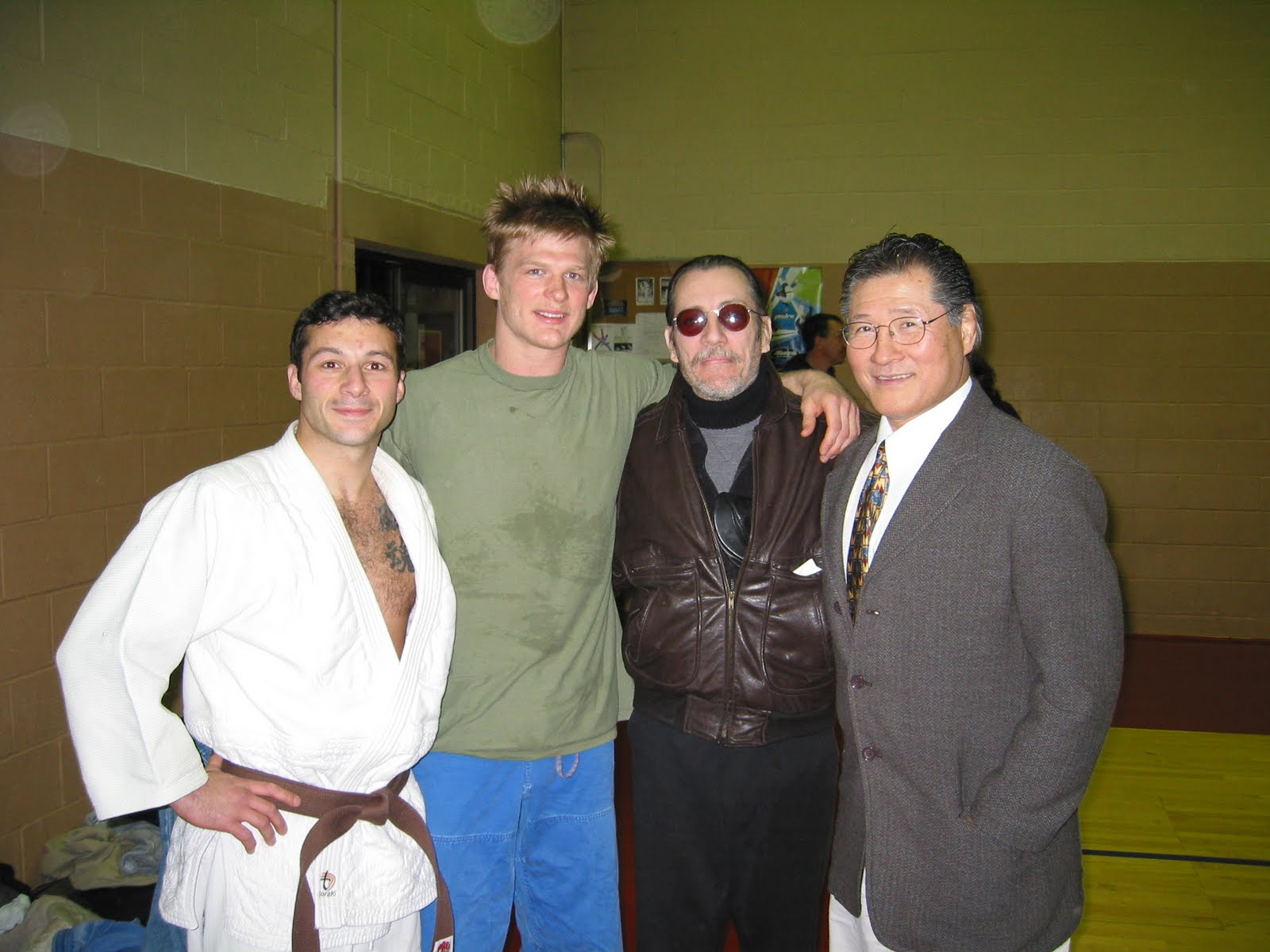 Damian Ross, David Ellis, Carl Cestari and Yoshisada Yonezuka at Damian's Judo Black Belt promotion.