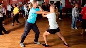 women training in self-defense